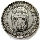 US Hobo 1879 Morgan Dollar Cartoon Characters With Masks Creative Coin Pressed Copy Coins