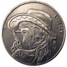 BU(05)Hobo Nickel 1937-D 3-Legged Buffalo Nickel Rare Beauty With Gun Funny Copy Coin