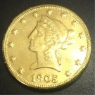 1905 United States Liberty Head (Motto on Reverse) $10 Gold Copy Coin