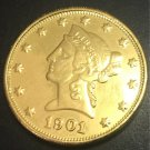 1901 United States Liberty Head (Motto on Reverse) $10 Gold Copy Coin