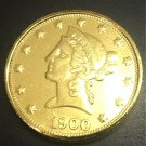 1900 United States Liberty Head (Motto on Reverse) $10 Gold Copy Coin
