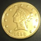 1898 United States Liberty Head (Motto on Reverse) $10 Gold Copy Coin