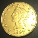 1897 United States Liberty Head (Motto on Reverse) $10 Gold Copy Coin