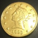 1893 United States Liberty Head (Motto on Reverse) $10 Gold Copy Coin
