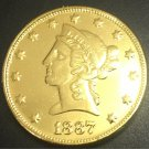 1887 United States Liberty Head (Motto on Reverse) $10 Gold Copy Coin