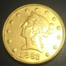 1883 United States Liberty Head (Motto on Reverse) $10 Gold Copy Coin