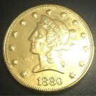 1880 United States Liberty Head (Motto on Reverse) $10 Gold Copy Coin