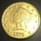 1879 United States Liberty Head (Motto on Reverse) $10 Gold Copy Coin