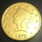 1878 United States Liberty Head (Motto on Reverse) $10 Gold Copy Coin