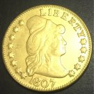1807 US TURBAN HEAD $5 24K gold plated Dollar coin copy ( Eagle and Shield On Reverse)