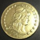 1796 US TURBAN HEAD $5 24K gold plated Dollar coin copy ( Plain Eagle on Reverse)