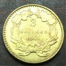 1865 US $3 gold dollar Gold copy Coin