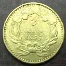 1855 US $3 gold dollar Gold copy Coin
