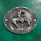 1 Pcs The End Of The Trail Horse Rider Western Cowboy Belt Buckle