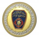 Gold Plating City Of Hartford Fire Department Challenge Copy Coin Medal