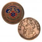 Copper Plating Kentucky Frankfort Fire Department Challenge Copy Coin Medal