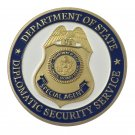 United States Department Of State Diplomatic Security Service Gold Plated Challenge Copy Coin Medal