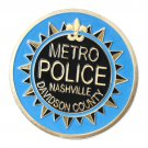 US Police Metro Nashville Davidson Country Gold Plated Challenge Coin For Collection