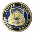 United States Pentagon Police Gold Plated Challenge Copy Coin For Collection