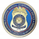 Defense Criminal Investigative Service DCIS Gold Plated Challenge Copy Coin For Collection