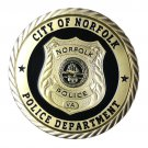 City Of Norfolk Police Department Gold Plated Challenge Copy Coin For Collection