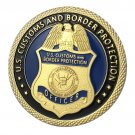 US Customs And Border Protection CBP Gold Plated Challenge Copy Coin For Collection