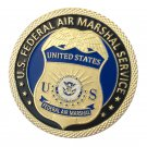 US Federal Air Marshal Service Gold Plated Challenge Copy Coin For Collection