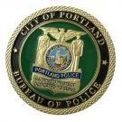 US Military City Of Portland Police Gold Plated Challenge Copy Coin For Collection