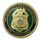 US Military Oklahoma City Police Department Gold Plated Challenge Copy Coin For Collection