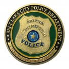 US Military Salt Lake City Police Department Gold Plated Challenge Copy Coin For Collection