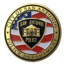 US Military San Antonio Police Department Gold Plated Challenge Copy Coin For Collection