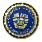 US Military Orlando Police Department Gold Plated Challenge Copy Coin For Collection