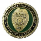 US Military Birmingham Police Department Gold Plated Challenge Copy Coin For Collection