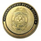 Connecticut State Police/CSP Gold Plated Challenge Coin For Collection