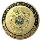 Kansas Highway Patrol/KHP Gold Plated Challenge Coin For Collection