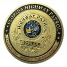 Florida Highway Partol/FHP Gold Plated Challenge Coin For Collection