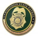 Wisconsin State Police/WSP Gold Plated Challenge Coin For Collection
