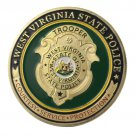 West Virginia State Police/WVSP Gold Plated Challenge Coin For Collection