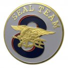 US Navy Seal Team EIGHT Gold Plated Challenge Coin For Collection