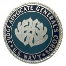 US Navy Judge Advocate General's Corps Silver Plated Challenge Coin For Collection