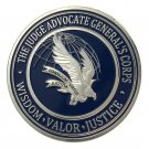 Judge Advocate General's Corps (JAG) Wisdom-Valor-Justice Challenge Coin For Collection