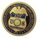 Bureau of Alcohol,Tobacco,Firearms and Explosives ATF Gold Plated Challenge Coin For Collection