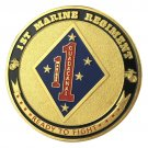 United States Marine Corps USMC 1ST Marine Regiment Gold Plated Challenge Coin For Collection