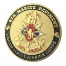 United States Marine Corps USMC 8TH Marine Regiment Gold Plated Challenge Coin For Collection