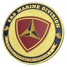United States Marine Corps 3RD Marine Division Honor Gold Plated Challenge Coin For Collection