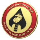 USMC Special Operations Command Gold Plated Challenge Coin For Collection