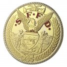 US. Military SFFD Gold Plated Challenge Coin For Collection