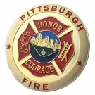 United States Pittsburgh Courage Honor Fire Department Gold Plated Challenge Coin For Collection