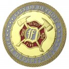 United States City Of Detroit Fire Department Gold Plated Challenge Coin For Collection