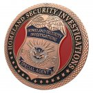 United States Homeland Security Investigations Antique Copper Plated Challenge Coin For Collection